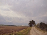 "Artist Marc Hanson: ""Spotty Showers Near Fredericksburg"" - 30"" x 40"" Oil."