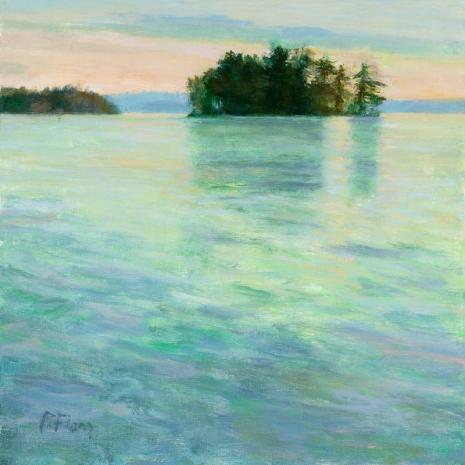 Fiore-Little Island, Summer 16x16